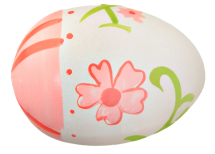 white-and-pink-flower-egg